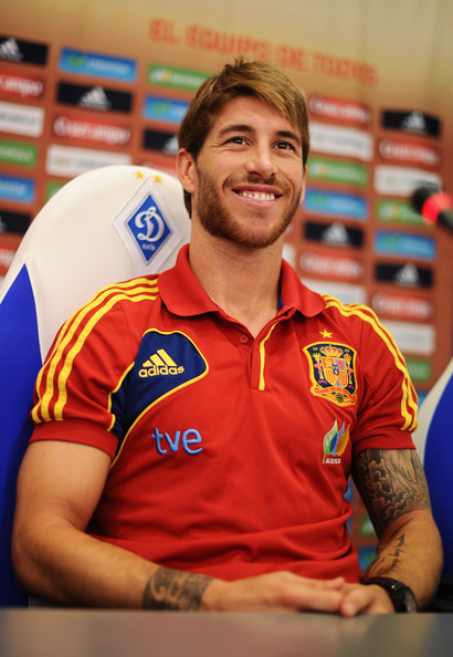 Sergio Ramos - Spain Press Conference - UEFA EURO Final 2012