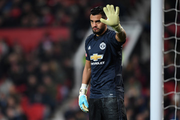 Sergio Romero Manchester United v Derby County - The Emirates FA Cup Third Round