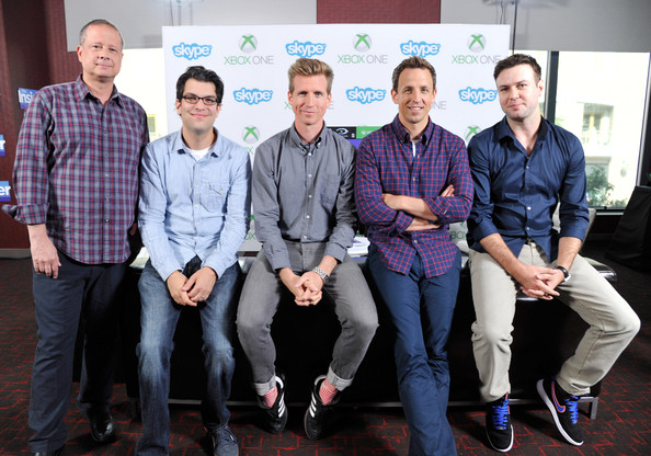 Xbox VIP Lounge At The Hard Rock Hotel [the awesomes,social group,team,event,community,company,white-collar worker,vip lounge,xbox,actors,josh meyers,seth meyers,taran killam,michael shoemaker,l-r,hard rock hotel]