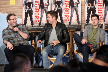 Seth Rogen Christopher Mintz-Plasse Funny Or Die Clubhouse + Facebook Pop-Up HQ @ SXSW - Day 1