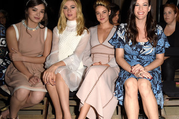 Shailene Woodley Front Row at Miu Miu