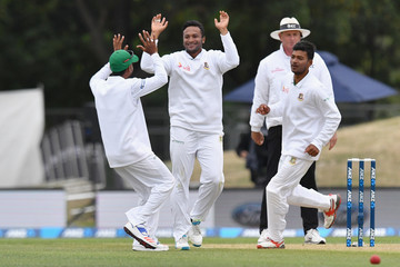 Shakib Al Hasan New Zealand v Bangladesh - 2nd Test: Day 2