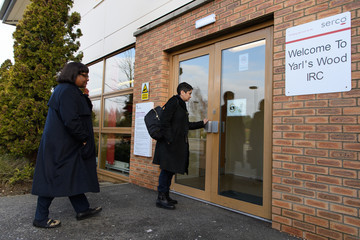 Shami Chakrabarti Shadow Home Secretary Visits Yarl's Wood Detention Centre