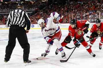 Shane Heyer New York Rangers v Ottawa Senators - Game Two