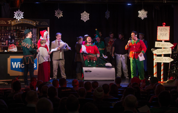 The Christian O'Connell Breakfast Show  [christian oconnell breakfast show presents zombie claus 2,christian oconnell breakfast show,event,performance,stage,heater,performing arts,musical theatre,christmas,night,technology,singing,shane richie,christian oconnell,richie firth,alex lowe,james may,england,london,absolute radio]