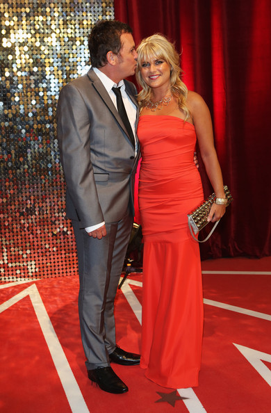 Arrivals at the British Soap Awards — Part 4 [red carpet,carpet,red,flooring,clothing,dress,formal wear,premiere,event,suit,red carpet arrivals,christie goddard,shane richie,british soap awards,england,manchester,media city]