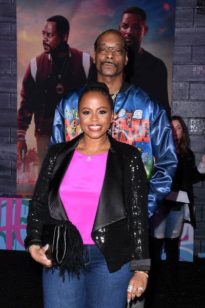 """Premiere Of Columbia Pictures' """"Bad Boys For Life"""" - Arrivals [bad boys for life,fashion,event,youth,jacket,outerwear,premiere,performance,fashion design,black hair,talent show,arrivals,shante broadus,snoop dogg,l-r,tcl chinese theatre,california,columbia pictures,premiere,premiere,snoop dogg,shante broadus,dr. dre,stock photography,photograph,getty images,image,photography,celebrity]"""