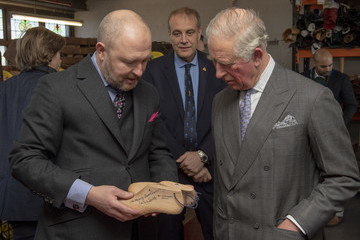 Shaquille O'Neal Prince Charles, Prince Of Wales Visits Shoemakers Tricker's