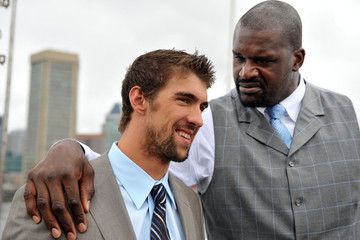 Shaquille O'Neil Shaquille O'Neal & Michael Phelps Press Conference