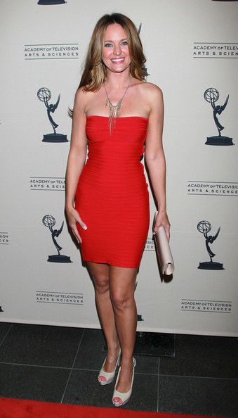 Sharon Case Actress Sharon Case attends the 2011 Daytime Emmy Awards ...