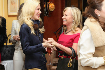 Sharon Bush New York Socialite Michelle-Marie Heinemann Hosts Luncheon for Prince Charles Henri Lobkowicz at Plaza Athenee