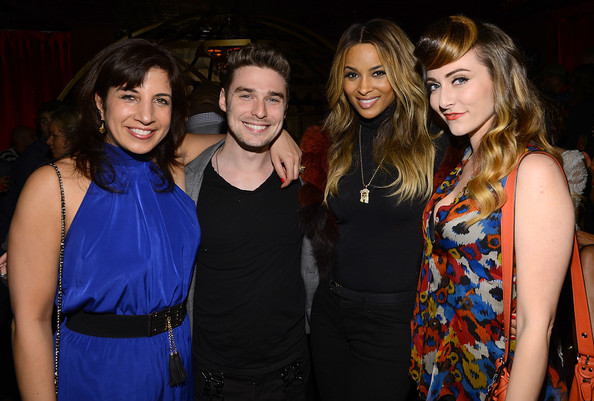 Pre-Grammy Showcase For Epic Records Recording Artist Ginny Blackmore [event,youth,fashion,fun,party,fashion design,dress,night,nightclub,brown hair,ginny blackmore,ciara,program director,amy hediman,nick noonan,z100 sharon dastur,l-r,karmin,epic records,pre-grammy showcase]