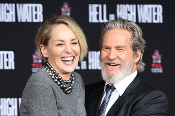 Sharon Stone Jeff Bridges Hand And Footprint Ceremony