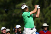 Bernhard Langer of Germany hits his tee shot on the 7th hole during the final round of the Shaw Charity Classic at the Canyon Meadows Golf and Country Club on September 2, 2018 in Calgary, Canada.