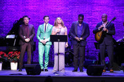 (L_R) Frank Shiner, Michael Urie, Vanessa Williams Norm Lewis and Bernie Williams perform during  Sheen Center presents Vanessa Williams & Friends: thankful for Christmas with guests Norm Lewis, Michael Urie, and Bernie Williams at Sheen Center for Thought & Culture on November 18, 2019 in New York City.