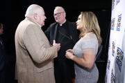 Steve Columbia, Cardinal Timothy Dolan and Vanessa Williams attend Sheen Center presents Vanessa Williams & Friends: thankful for Christmas with guests Norm Lewis, Michael Urie, and Bernie Williams at Sheen Center for Thought & Culture on November 18, 2019 in New York City.