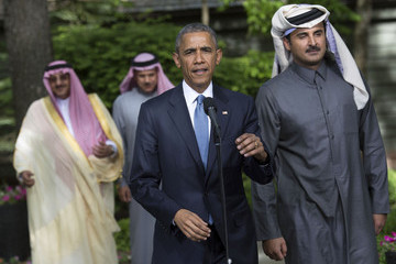Sheikh Tamim bin Hamad Al Thani Obama Hosts Gulf Cooperation Council Summit at Camp David