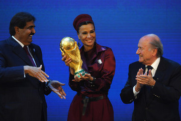 Sheikha Mozah bint Nasser Al Missned FIFA World Cup 2018 & 2022 Host Countries Announced