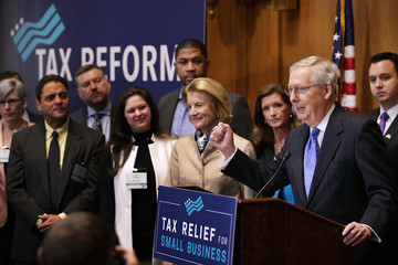 Shelley Moore Capito Senate Republicans Hold News Conference on Importance of Tax Reform