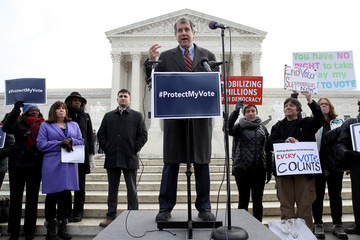 Sherrod Brown Activists and Ohio Lawmakers Rally Outside Supreme Court As Case Heard on Ohio's Voter Roll Purges