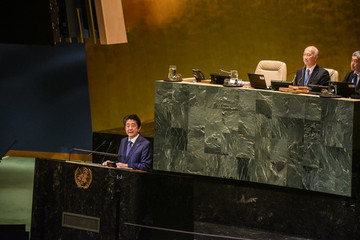 Shinzo Abe World Leaders Address The United Nations General Assembly
