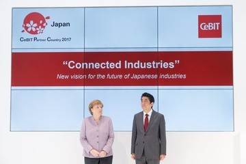 Shinzo Abe CeBIT 2017 Technology Trade Fair