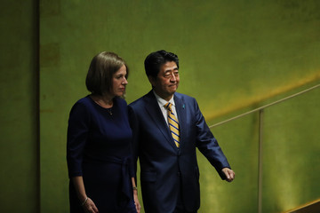Shinzo Abe World Leaders Address United Nations General Assembly