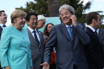 Shinzo Abe G7 Leaders Meet In Sicily