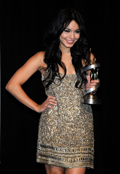 Vanessa Hudgens Actress Vanessa Hudgens, recipient of the Female Star of Tomorrow Award, arrives at the ShoWest awards ceremony at the Paris Las Vegas during ShoWest, the official convention of the National Association of Theatre Owners, March 18, 2010 in Las Vegas, Nevada.