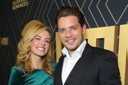 Actress Molly Burnett (L) and Actor Dominic Sherwood attend Showtime's Golden Globe Nominees Celebration at Sunset Tower Hotel on January 04, 2020 in West Hollywood, California.