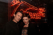 "George Griffith (L) and Nicole LaLiberte attend Showtime's ""Twin Peaks"" Roadhouse Pop Up and Red Room Gift Shop on December 8, 2017 in Los Angeles, California.  (Photo by Paul Butterfield/Getty Images) *** Local Caption *** George Griffith; Nicole LaLiberte"