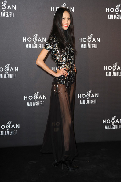 Shu Pei Shu Pei attends the Hogan by Karl Lagerfeld cocktail party during Paris Fashion Week Fall/Winter 2012 on March 4, 2011 in Paris, France.