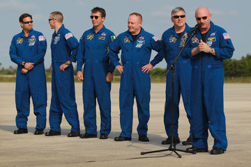 Greg Chamitoff Shuttle Endeavour Astronauts Arrive For Monday's Launch