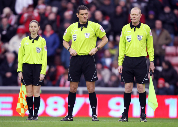 Sian Massey Assistant Referee Sian Massey (L) during the Barclays Premier