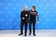 "(L-R) Director Abel Ferrara and Willem Dafoe pose at the ""Siberia"" photo call during the 70th Berlinale International Film Festival Berlin at Grand Hyatt Hotel on February 24, 2020 in Berlin, Germany."