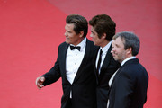 "(L-R) Actors Josh Brolin, Benicio Del Toro, Emily Blunt and director Denis Villeneuve attend the Premiere of ""Sicario"" during the 68th annual Cannes Film Festival on May 19, 2015 in Cannes, France."