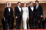 "Pierre Lescure, Josh Brolin, Emily Blunt, director Denis Villeneuve and Benicio Del Toro attend the Premiere of ""Sicario"" during the 68th annual Cannes Film Festival on May 19, 2015 in Cannes, France."