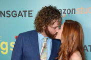 "T.J. Miller and Kate Gorney attend the ""The Big Sick"" New York Premiere at The Landmark Sunshine Theater on June 20, 2017 in New York City."