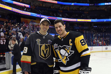 Sidney Crosby Marc-Andre Fleury 2018 Geico NHL All-Star Skills Competition