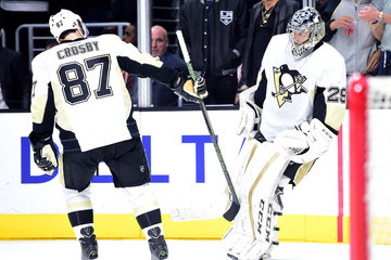 Sidney Crosby Marc-Andre Fleury Pittsburgh Penguins v Los Angeles Kings