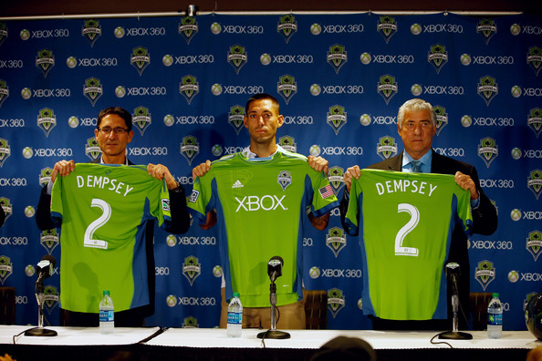 Sigi schmid pictures seattle sounders introduce clint for Seattle sounders tattoo