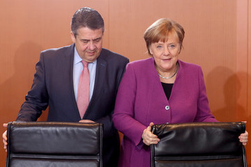 Sigmar Gabriel Weekly Interim Government Cabinet Meeting