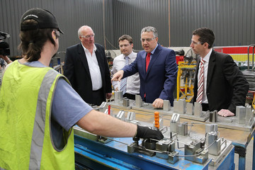 Simon Birmingham Joe Hockey Visits Adelaide Manufacturing Business