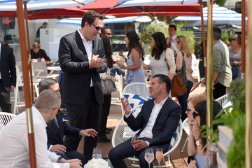 Simon Kinberg The Hollywood Reporter And DIRECTV Celebrate '355' At The Grey Goose Terrace - The 71st Annual Cannes Film Festival