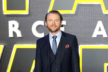 Simon Pegg 'Star Wars: The Force Awakens' - European Film Premiere - Red Carpet Arrivals