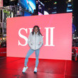 Simone Biles Olympic Gymnast Simone Biles Appears In Times Square For SK-II Beauty Campaign