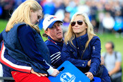 Phil Mickelson of the United States looks dejected with his wife Amy after Europe won the Ryder Cup during the Singles Matches of the 2014 Ryder Cup on the PGA Centenary course at the Gleneagles Hotel on September 28, 2014 in Auchterarder, Scotland.