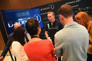 Sir Chris Hoy Media Interviews - 2017 Laureus World Sports Awards - Monaco