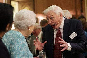 Sir David Attenborough The Queen Hosts A Reception To Showcase The Queen's Commonwealth Canopy