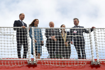 Sir David Attenborough The Duke And Duchess Of Cambridge Attend The Naming Ceremony